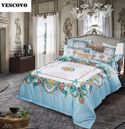 Discount royal beds - 80S Egyptian Cotton Tribute silk Luxury Royal Europe Ital Bedding Set 4Pcs King Queen Size Bed Sheet set Duvet cover Pil