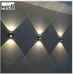 Led crystaL waLL Light online shopping - Up down wall lamp led modern indoor hotel decoration light living room bedroom bedside LED Wall Lamp aisle bra