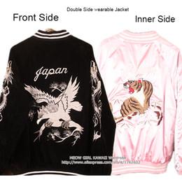 $enCountryForm.capitalKeyWord NZ - Hot Japanese Harajuku YOKOSUKA Feel Eagle Tiger Embroidery Cool Jacket Double Side Wear Reversible Baseball Outwear High Quality