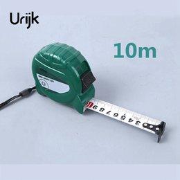 Urijk 2sizes 10 м ручной блокировки ленты из нержавеющей стали группа ленты ABS Shell DIY столярные изделия из металла измерения ручной инструмент калибровки