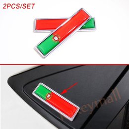 aluminum flag emblems NZ - 2X Universal Chrome Car Vehicle Badge Accessories Portugal Nation Flag Emblem Sticker Decal Trim