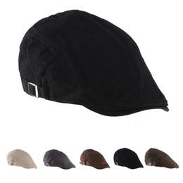 Unisex de alta calidad del casquillo del algodón masculino femenino verano  primavera al aire libre sombrero de la boina del sol hombres mujeres boinas  de ... 2421f4190d7