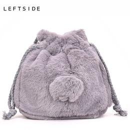 LEFTSIDE Cute Faux Fur Bags For Women 2018 Clutch Bags Fashion Crossbody  Lady Casual Handbag Girls Sweet Handbags Winter bdd1c22102f20