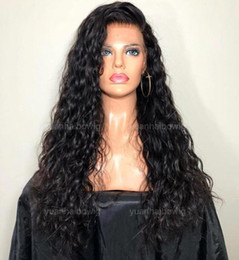 Loose Curls Long Hair Australia - Loose Curl Full Lace Wigs 10A Grade The Best Quality Burmese Virgin Human Hair Gluelss Lace Front Wigs for Black Woman Free Shippiing