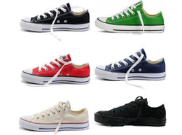Discount army green color canvas shoes - New 15 Color Credible Unisex Shoes All Size 35-46 For Men Women Sneakers Run Sport Casual Low High Top Classic Skateboar