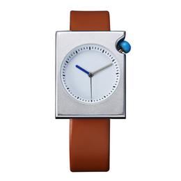 men simple style watch 2019 - Hot 2018 Student Quartz Watch Men Simple Style Rectangle Case PU Band Strap Wristwatch Decoration Gift For Boyfriend che