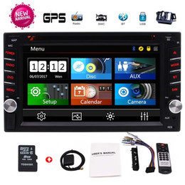 Rearview Screen NZ - EinCar 2Din Car GPS Navigation 6.2'' in-Dash Car DVD CD Bluetooth GPS Radio Entertainment USB SD AUX 1080P 8G Navi Card+Rearview Camera