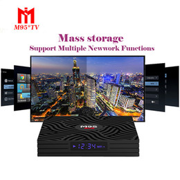 android smart tv box dhl NZ - M9S Y1 Android 8.1 tv box 4GB 32GB RK3328 QUAD core Android 8.1 smart media box Bluetooth Google TV Digital Display Free DHL