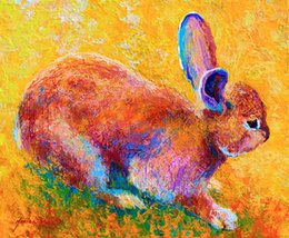 $enCountryForm.capitalKeyWord Australia - YOUME ART Giclee Animal the urge to merge cottontail-ii oil painting arts and canvas wall decoration art Oil Painting on Canvas 60X76cm