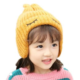 f684592456c Baby Hats Fashion Double-horned Earmuffs Knitted Hat Autumn and Winter  Children Hat Cap for Girls Boy Baby Bonnet Kids Baby Cap