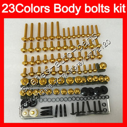 China Fairing bolts full screw kit For HONDA CBR1100XX Blackbird 96 97 98 99 00 01 02 03 04 05 06 07 1100XX Body Nuts screws nut bolt kit 25Colors cheap honda blackbird fairing kits suppliers