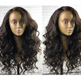 $enCountryForm.capitalKeyWord Australia - 100% Unprocessed Virgin Brazilian Loose Wave Wig With Baby Hair Brazilian Glueless Full Lace Human Hair Wigs For Black Women Wavy Wig