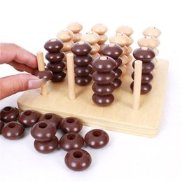 Funny Blocks NZ - Wooden 3D Connect Four Chess Funny Development Intelligent Educational Toys for Kids Puzzle Board Games Building Block