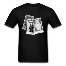 T-shirt da uomo blu scuro Death Note Death The Devil Tarot Card Interessante House Of Cards T-Shirt 2018 New Doom T-Shirt Cotton
