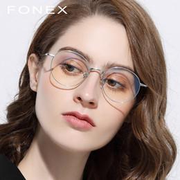 e129adc087 Pure Titanium Glasses Frame Men Retro Women Round Prescription Eyeglasses  Harry Hot Vintage Potter Myopia Optical Frames Eyewear