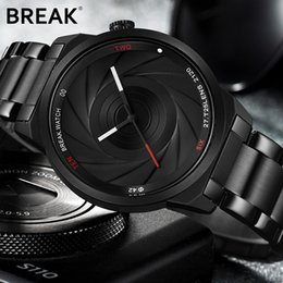 Water resistant sport Watches Women online shopping - BREAK Photographer Series Unique Camera Style stainless Strap Men Women Casual Fashion Sport Quartz Modern Gift Wrist Watches