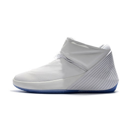 Green Money Box UK - Cheap New Mens Westbrook basketball shoes Triple White Pure Money Air Zoom Flight one Jumpman Why Not Zero 0.1 sneakers with box for sale