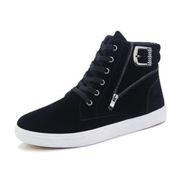 Brand High Board Shoes UK - Fashion autumn High Top Sneakers Man Brand Outdoor Casual Skate board Shoes Men Ankle Boots Black Party street dance Shoes