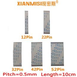 Ffc Fpc Cable Australia - FFC FPC Flat Flex Ribbon Cable 12Pin 22Pin 32Pin 42Pin 52Pin Same Side 0.5mm Pitch AWM VW-1 20798 80C 60V Length 10cm 5PCS