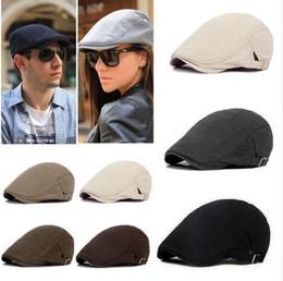 90f2468f Adjustable Men Women Beret Caps Spring Autumn Outdoor Breathable Bone Brim  Hats Womens Mens Herringbone Solid Flat Berets Cap Hat
