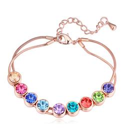 $enCountryForm.capitalKeyWord Australia - Multi Color Cristal Bracelet Brazilian Bracelet Magnet Buckle Bohemian Made with Swarovski Elements Crystal Best Jewels Gift