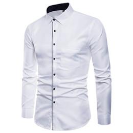 $enCountryForm.capitalKeyWord Australia - 2018 new spring and autumn hot men's long-sleeved business shirt fashion casual self-cultivation lapel urban men's clothing 5XL