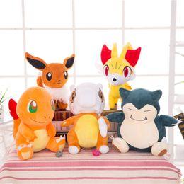 Japan stuff toys online shopping - Pokeman Plush Doll Monsters Figures Stuffed Toy Charmander Snorlax Fennekin Cubone Eevee Japan Animated Cartoon Characters Plush Kids Toy