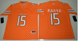 college football uniforms Canada - New Miami Hurricanes #15 Brad Kaaya Mens Vintage College American Football Sports Shirts Pro Team Jerseys Uniforms Stitched Embroidery