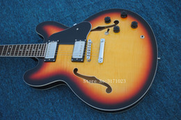 musical instruments hollow body jazz Canada - Sunburst Classic 335 Hollow Jazz Guitar High Quality China Guitars Top Musical instruments