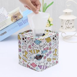 Paper Table Roll Australia - 1PC Square Tissue Boxes Tissue Pumping Paper Towel Tube Reel Spool Tin Box for Living Room Table Decoration & Accessories HHY1