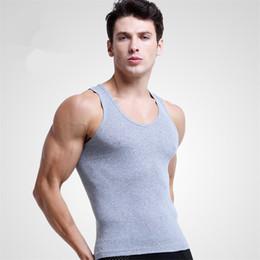 $enCountryForm.capitalKeyWord Australia - New Cotton Mens Sleeveless Tank Top Muscle Vest Cotton Undershirts O-Neck Gymclothing T -Shirts 3pcs  Lot