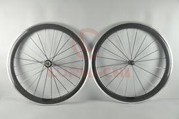 Wheels front carbon clincher online shopping - LURHACHI mm Carbon Fiber Alloy Wheels C K UD Clincher Tubular Carbon Alloy Road Bike Wheelset Speed Holes