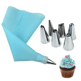 $enCountryForm.capitalKeyWord NZ - Urijk DIY Kitchen Cake Decorating Baking Tool 8 IN 1set Silicone Icing Piping Cream Pastry Bag 6pcs Stainless Steel Nozzle Set