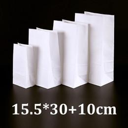 $enCountryForm.capitalKeyWord Australia - 15.5x30cm eco friendly food grade white kraft bread packaging paper bags