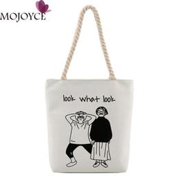 $enCountryForm.capitalKeyWord Australia - Women Canvas Shoulder Bag Large Capacity Tote Shoulder Bag Women Shopping Bags Cute Girls Printed Handbag Casual Tote Feminina