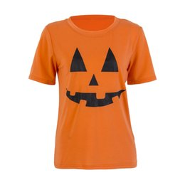e78f7c8349f Hot Halloween Clothes Outfits Pumkin T-Shirt Women Plus Size Female Casual  Basic Tunic Tops T-Shirts Short Sleeve Camiseta Mujer