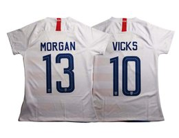 Chinese  18 19 MORGAN Home Soccer Jersey Women Color white National Soccer Shirt #10 PULISIC Football uniform manufacturers