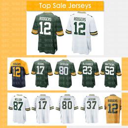 0e8caa1b6 12 Aaron Rodgers Green Bays Packers Jersey 17 Davante Adams 23 Jaire  Alexander 80 Jimmy Graham 37 Jackson 52 Clay Matthews