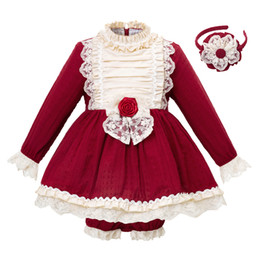 China Pettigirl New Arrival Red Autumn Girl Clothing Set Flare Sleeve Kids Designer Clothes Boutique Little Girls Clothing Sets G-DMCS103-B232 cheap kids clothes multi color suppliers