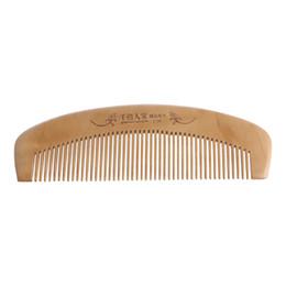 35 Hair UK - Hair Brush Peach Wood Combs Static Natural Massage Hairbrush Comb Health Care #35 2W