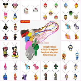 Silicone Figures Australia - 2-5PCS Kitty Cartoon Figure PVC Pendant +51cm Silicone Necklace Rope Chain Accessory Choker Kid Gift Party Favors Jewelry