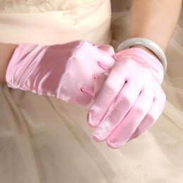 Colorido Nupcial Guantes Cortos Mujeres Dama Dance Performance Wear Guantes Wedding Party Dress Decoración