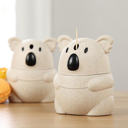 $enCountryForm.capitalKeyWord NZ - Wheat straw Cute Cartoon koala Automatic Toothpick Holders Home Table Decoration Eco-Friendly Kitchen gadgets free shipping