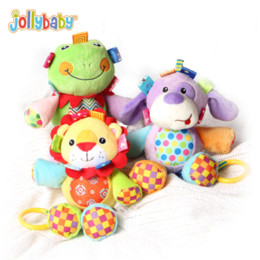 Ingrosso Jollybaby Cute Musical Peluche Peluche Bambola Baby Comfort Culla Hanging Toys Bambino Early Learning Educational Regalo per bambini