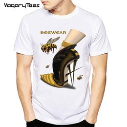 $enCountryForm.capitalKeyWord NZ - 2019 Bee Illustration High Heels Shoes T-shirt Men Printed T Shirts O - Neck Soft Short Sleeve Casual White Tops