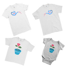 couple family t shirts 2019 - Family Love Growth Plant Dad Mom Kid Baby Matching Family Couple Team T-Shirt Cool Casual pride t shirt cheap couple fam