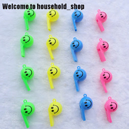 Football cheerleading online shopping - Smiling Face Whistle with Rope Russia World Cup Soccer Football or Small Gifts of Shopping Mall Promotions Cheerleading Toys for Kids