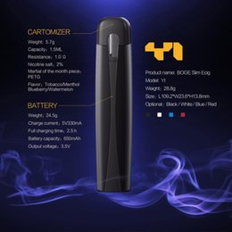 Disposable electronic cigarette cartriDges online shopping - Boge Y1 Electronic Cigarette Starter Kit mah Vape Pen With Flavor Disposable Cartridges Boge Y1 Pods Vaporizer Pen E Cigarette Vape Kit
