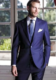 $enCountryForm.capitalKeyWord NZ - Custom Made Men Suits Royal Blue Wedding Suits For Man Bridegroom Business Tailored Slim Fit 2 Pieces Terno Blazer Masculino (Jacket+Pants)