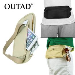 5b224186259ba 7 Photos Denim waist bag online shopping - OUTAD Compact Cash Travel  Passport Ticket Zipper Bag Safety Belt